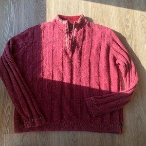 Woolrich Womens L Red 100% Lambs Wool Long Sleeve